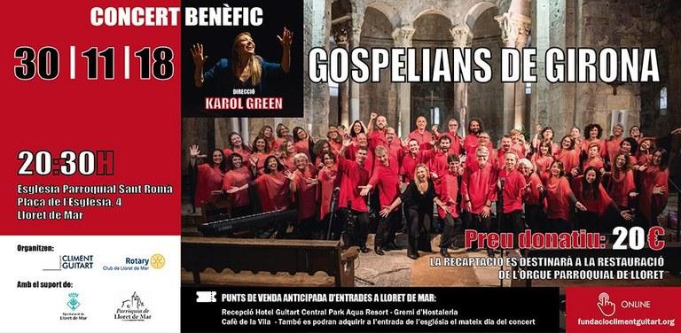 Concert benèfic amb Gospelians