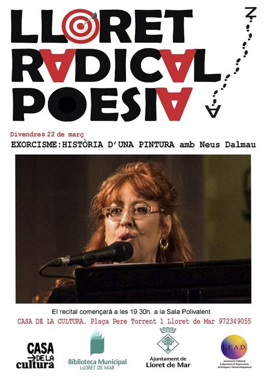 Lloret Radical Poesia,  'Exorcisme: Història d'una pintura' amb Neus Dalmau