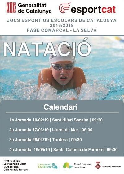 Jocs Esportius Escolars de Catalunya Fase Comarcal Natació