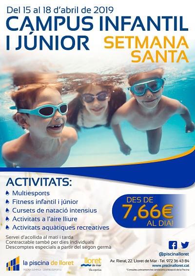 Campus Esportiu Infantil i Júnior de la Piscina de Lloret