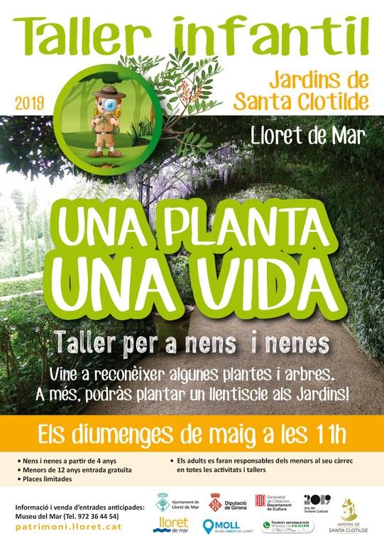 Taller infantil, una planta, una vida