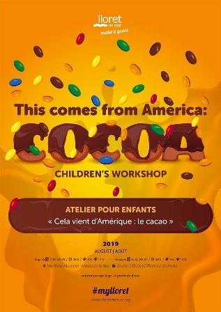 Taller Infantil 'Això ve d, Amèrica:cacau' en francés