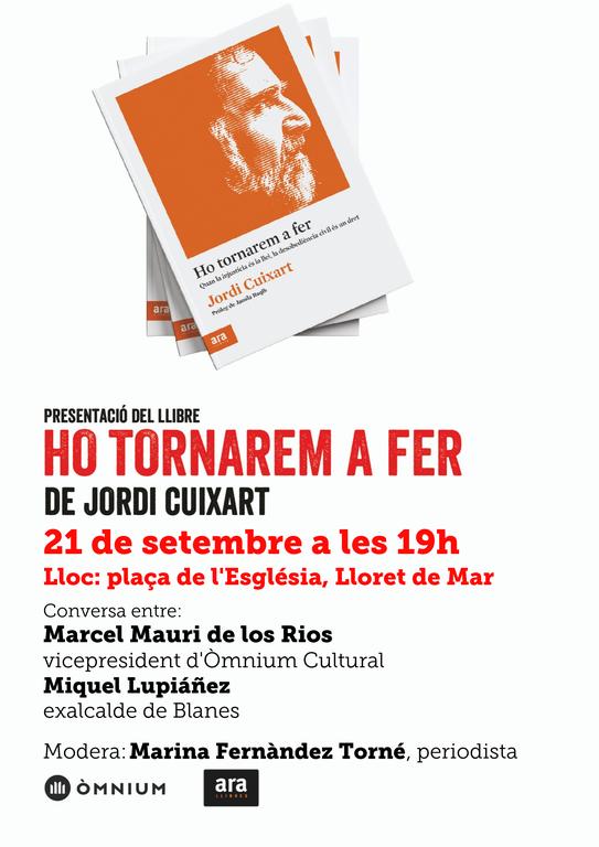 Presentació del llibre 'Ho tornarem a fer'. Acte Organitzat per Òmnium Cultural