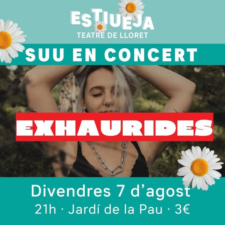 ESTIUEJA: Concert amb SUU / Entrades exhaurides