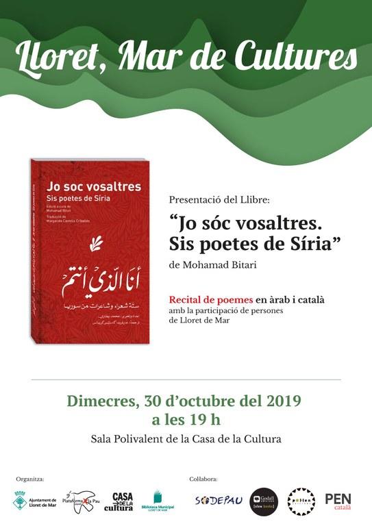 """Presentació del llibre: """"Jo sóc vosaltres. Sis poetes de Síria"""""""