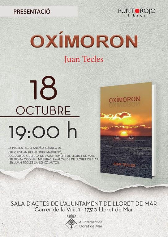 """Presentació del llibre """"OXÍMORON"""""""