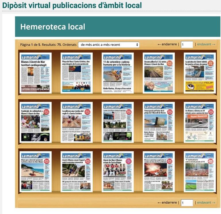 """La revista """"Marina"""" al Dipòsit Virtual del SAMLM"""