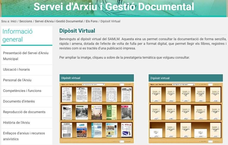 Els registres i padrons d'habitants ja estan disponibles al Dipòsit Virtual