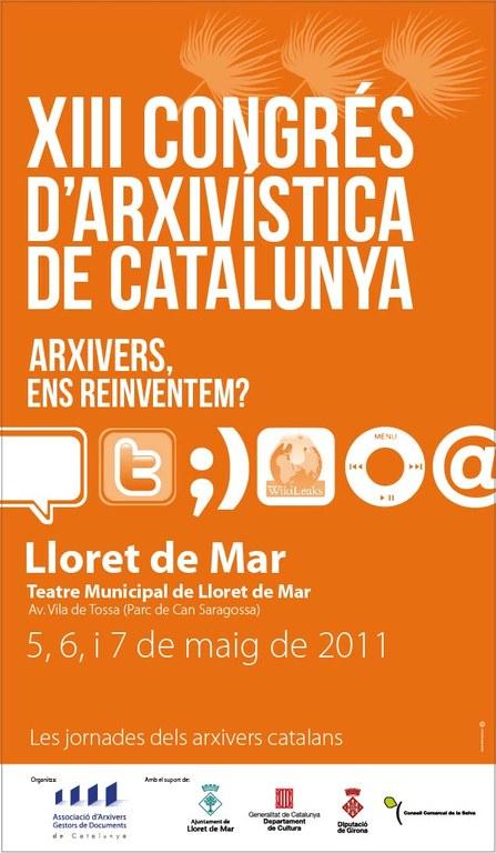 XIII Congrés d'Arxivística de Catalunya