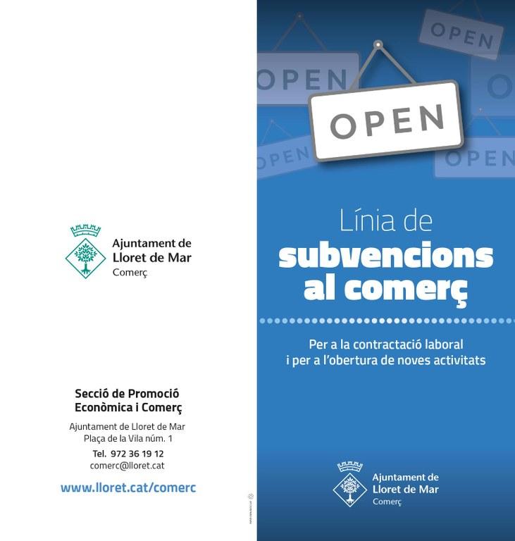 Línia de Subvencions per a la contractació laboral i per a l'obertura de noves activitats