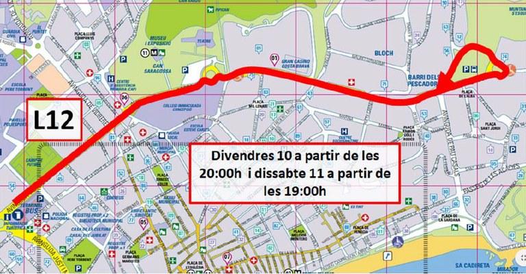 Afectacions al transport urbà per l'esdeveniment de fórmula weekend